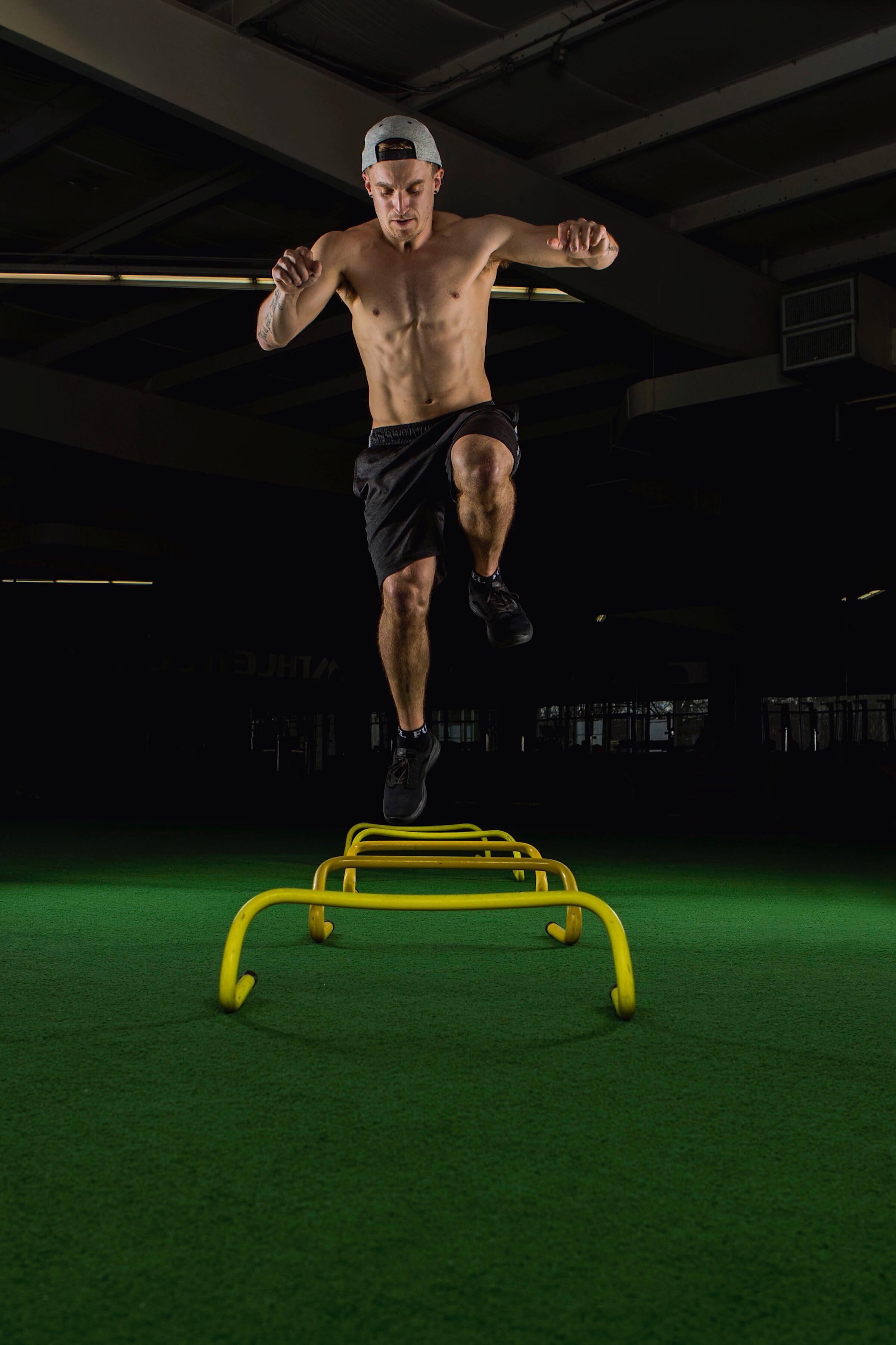 Single Leg Hurdle Jumps